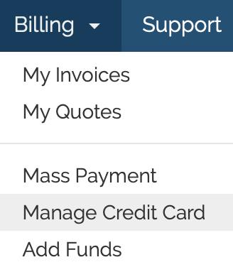 Manage credit card